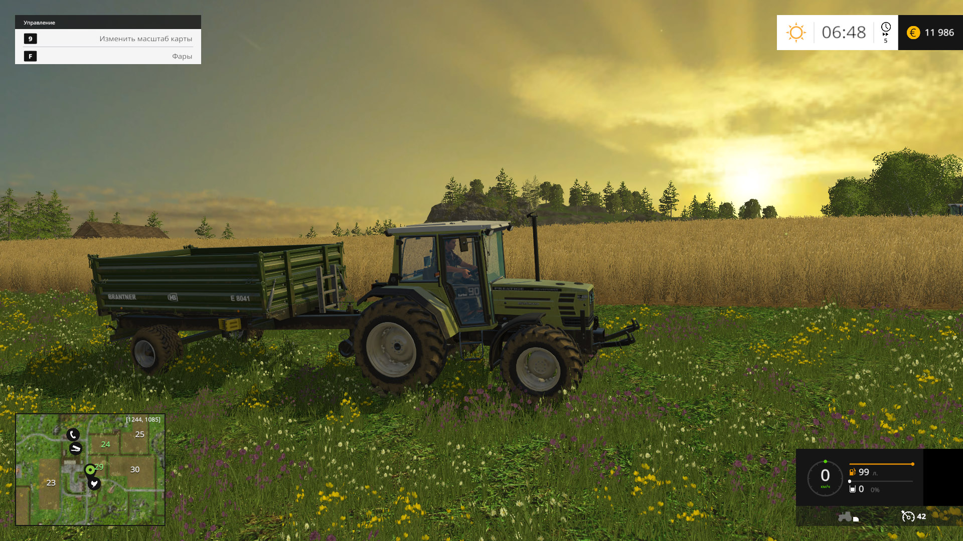 Farming Simulator 15: Gold Edition [v 1.4.2 + DLC's] (2014) PC - Скриншот 2