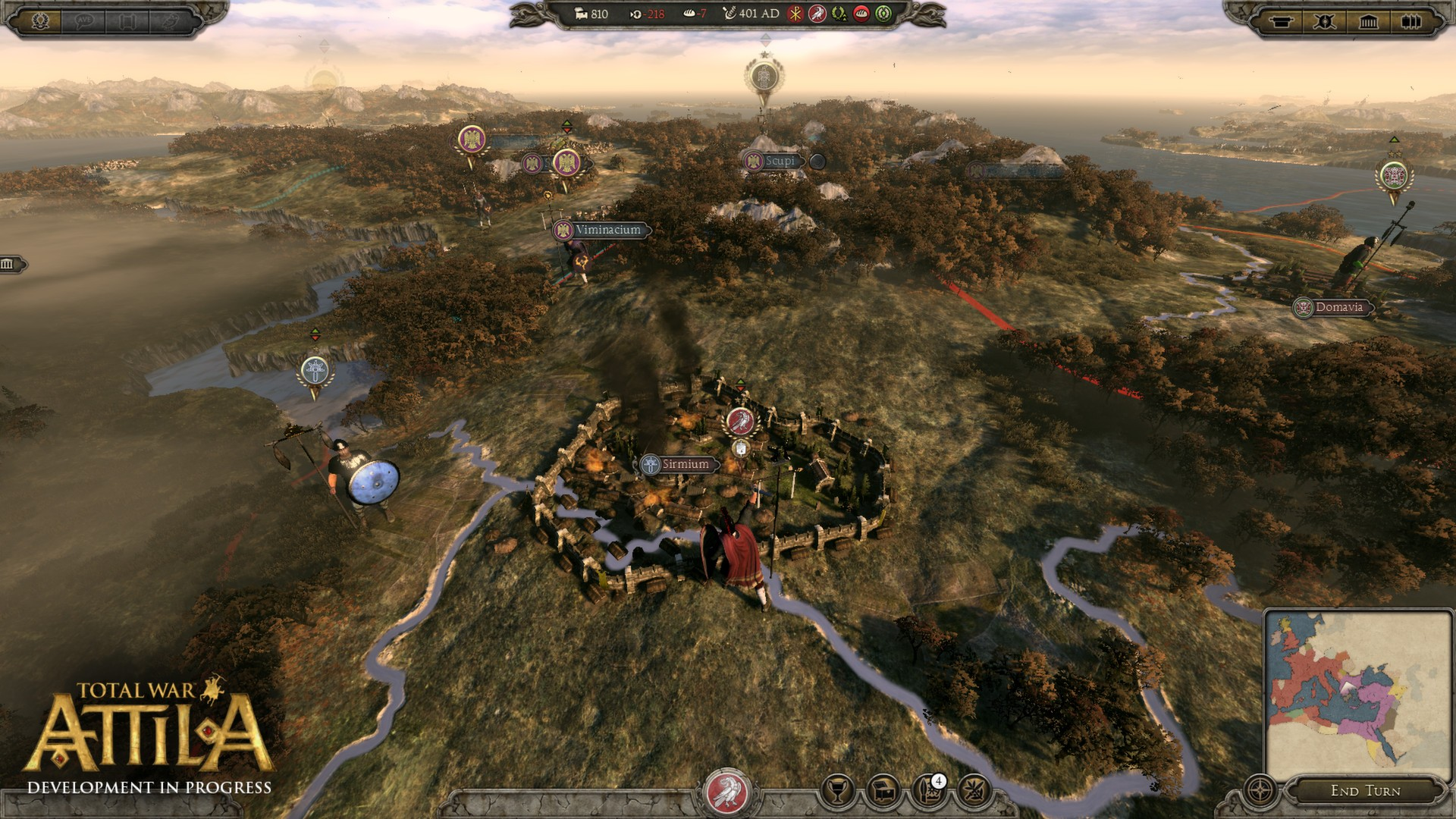 Total War: ATTILA [v 1.6.0 + DLCs] (2015) PC - Скриншот 1