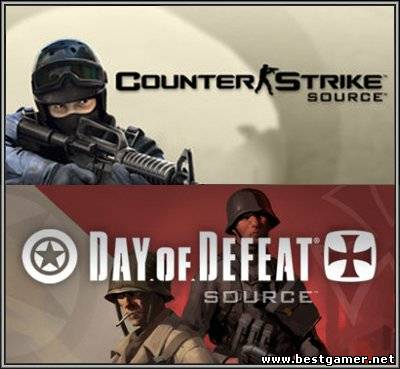 Counter-Strike: Source v1.0.0.72 + Day of Defeat Source v1.0.0.40 (2 в 1) + MapPack (No-Steam) (2012) PC