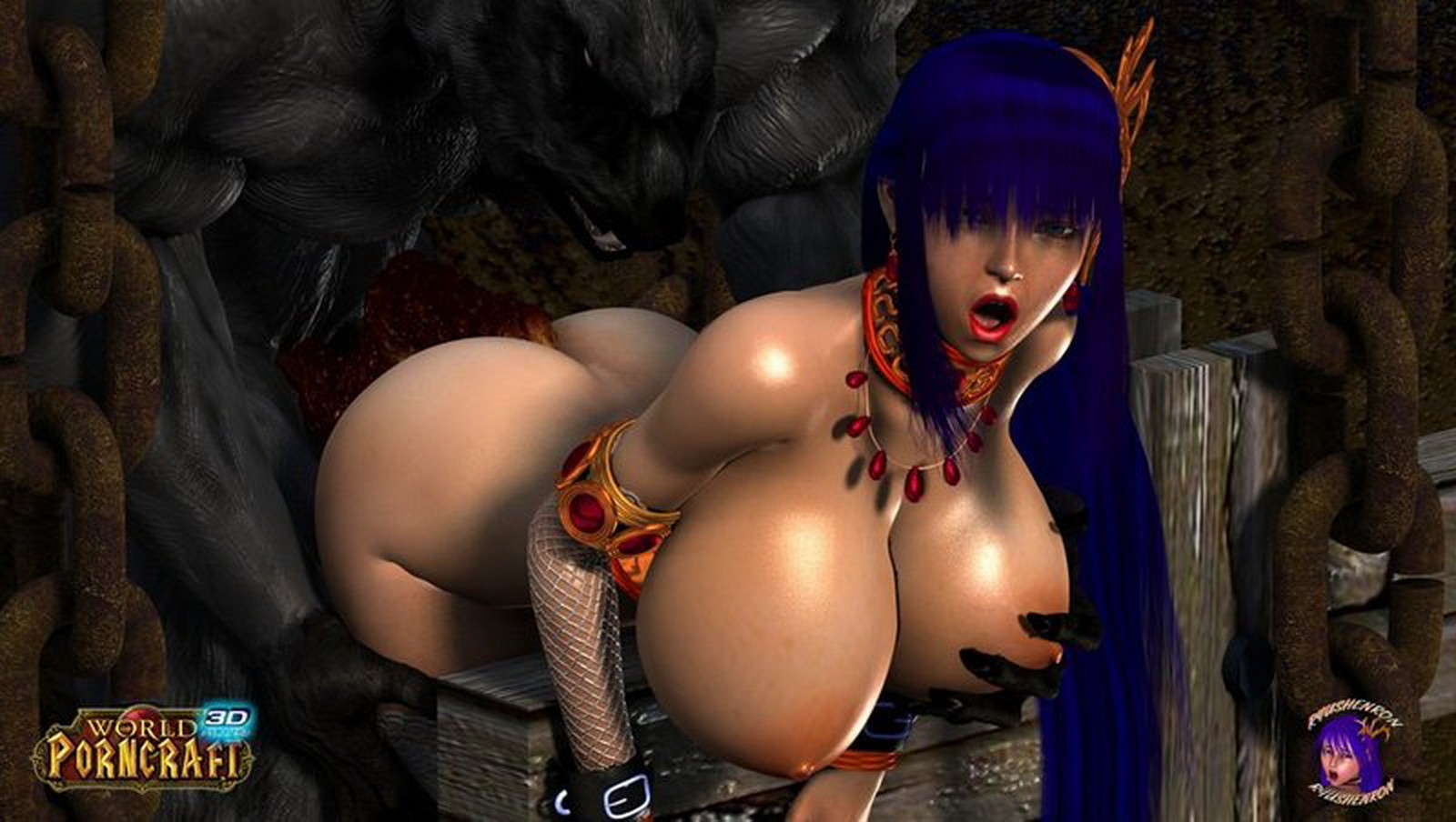 Monster fucks elf world of porncraft 3d sexy movies
