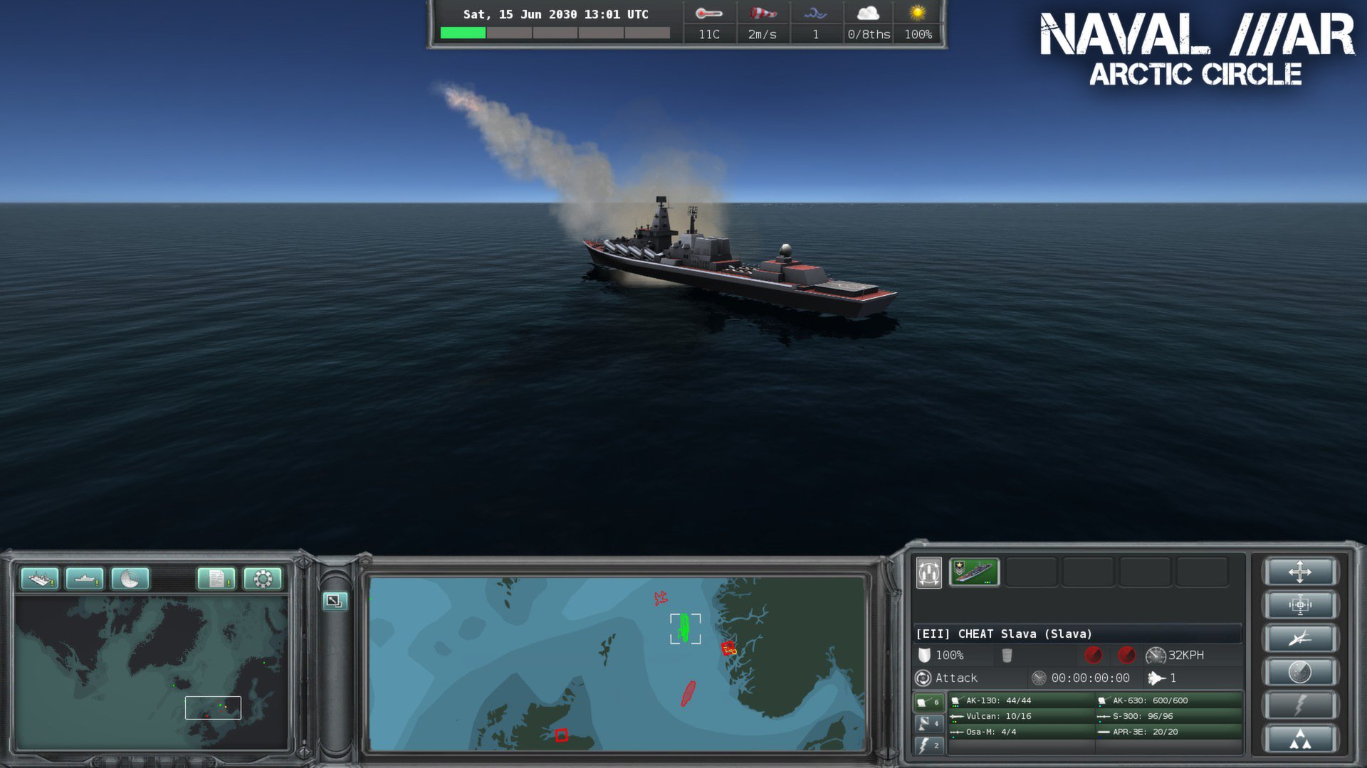 Naval War: Arctic Circle [v 1.0.9.4] (2012) PC | Лицензия - Скриншот 3
