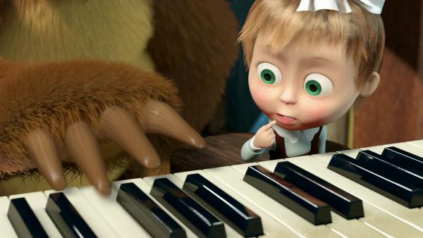 погода маша и медведь пианино картинки подарочный